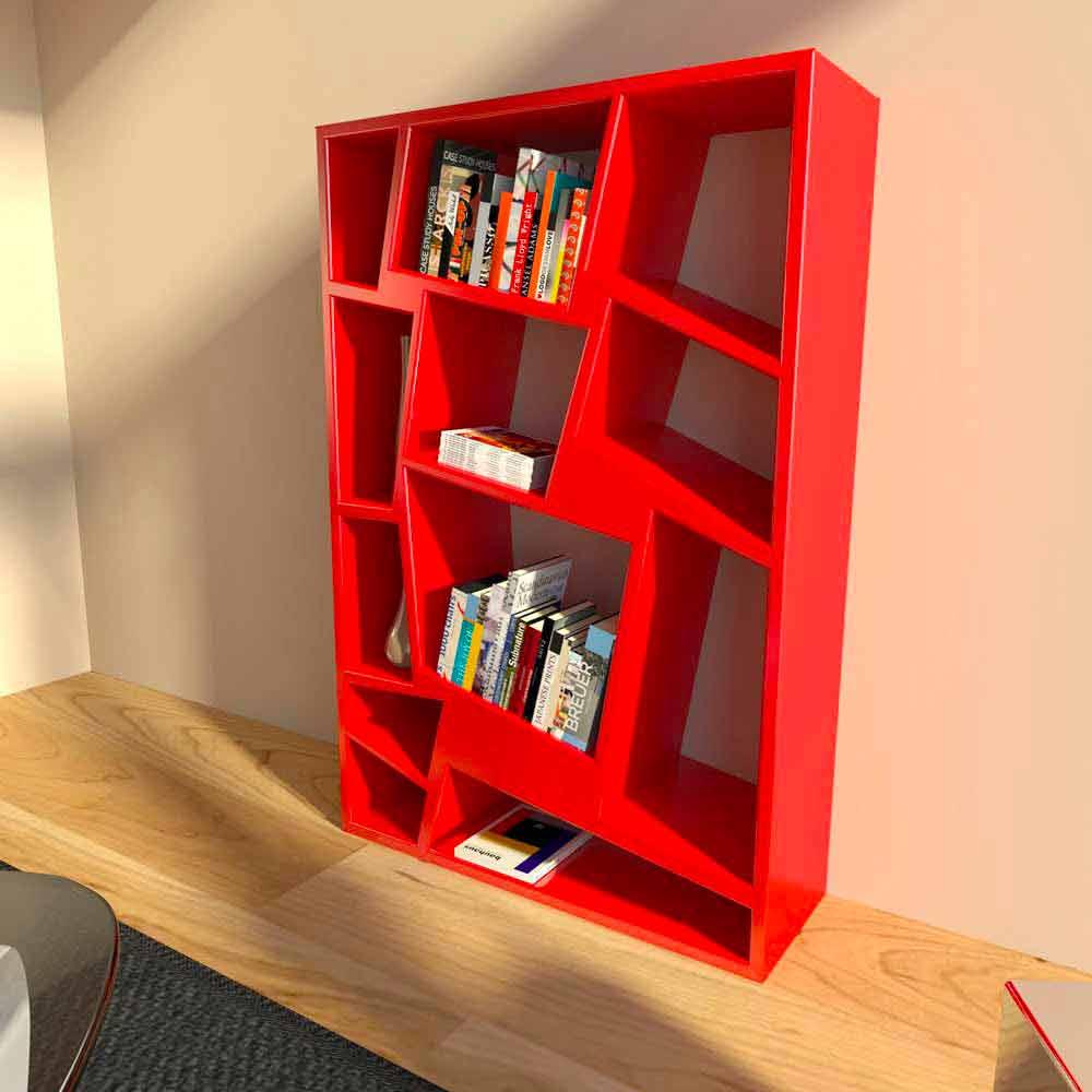 Libreria moderna di design verde rossa o bianca Christie