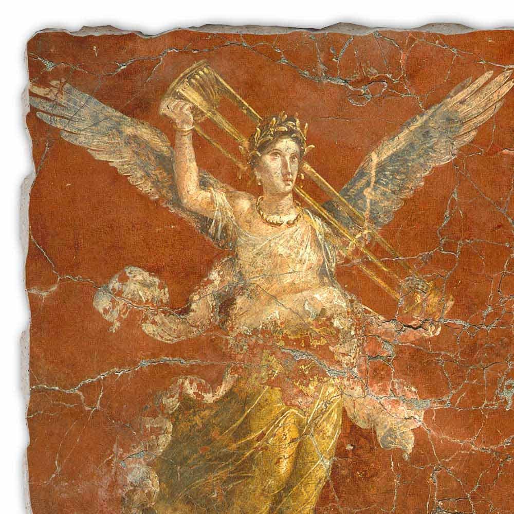Affresco fatto a mano in Italia Arte Romana Ciclo delle Muse