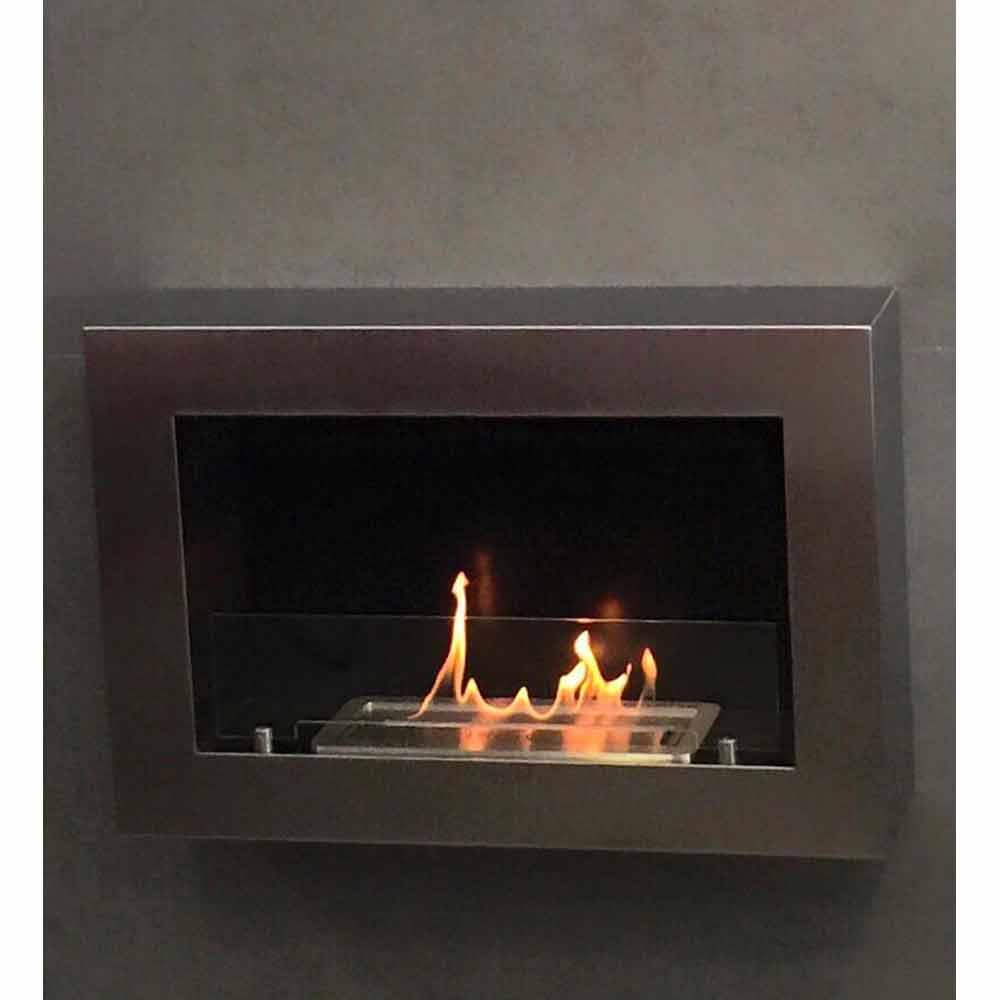 Biocamino da parete moderno design modello Blake a prezzi