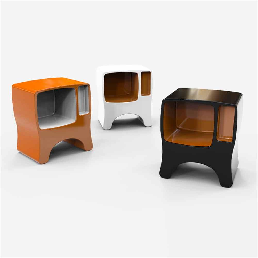 Comodino Design in Adamantx Catodico Made in Italy