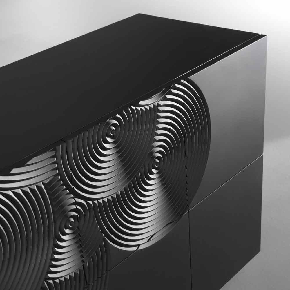 Credenza a 10 ante Ardesia design moderno bianca nera