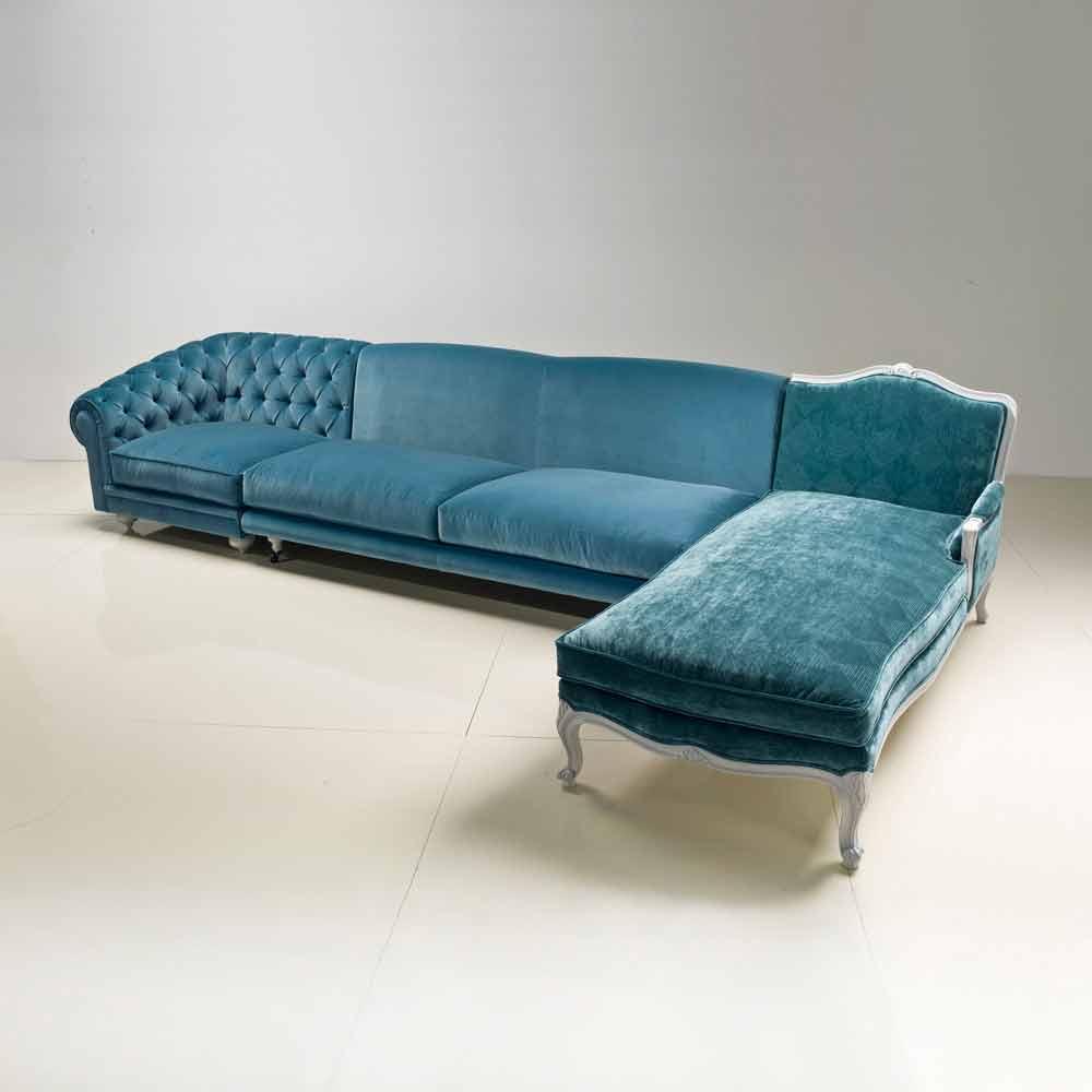 Divano ad angolo design classico di lusso made in Italy