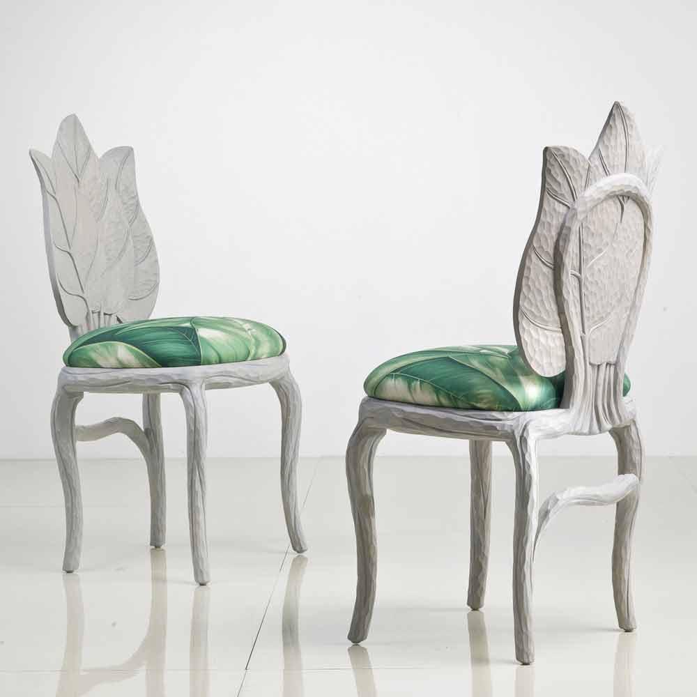 Sedia da pranzo imbottita di design moderno made in Italy