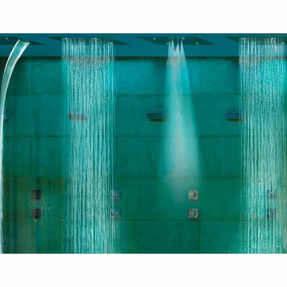 Bossini Soffione doccia moderno a quattro funzioni e cromoterapia Dream