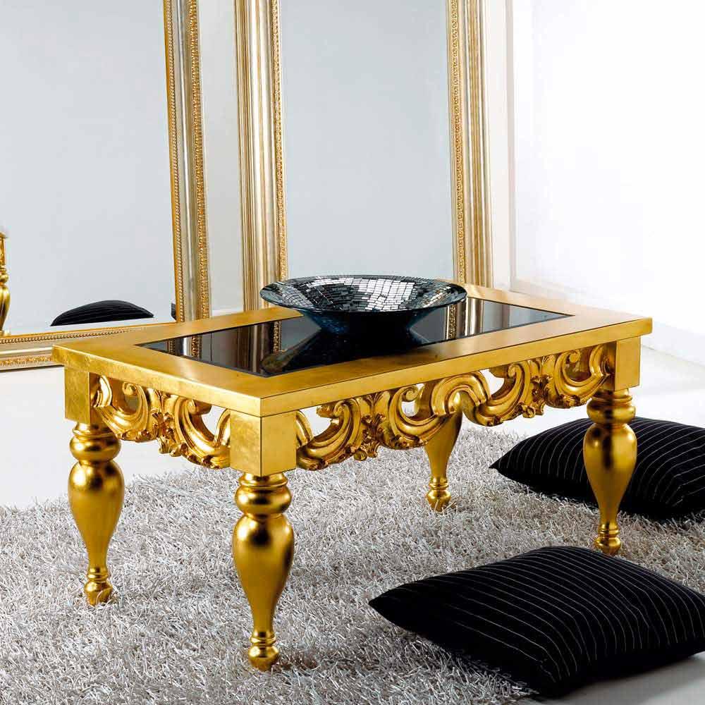 Tavolino da soggiorno design classico in legno Lof