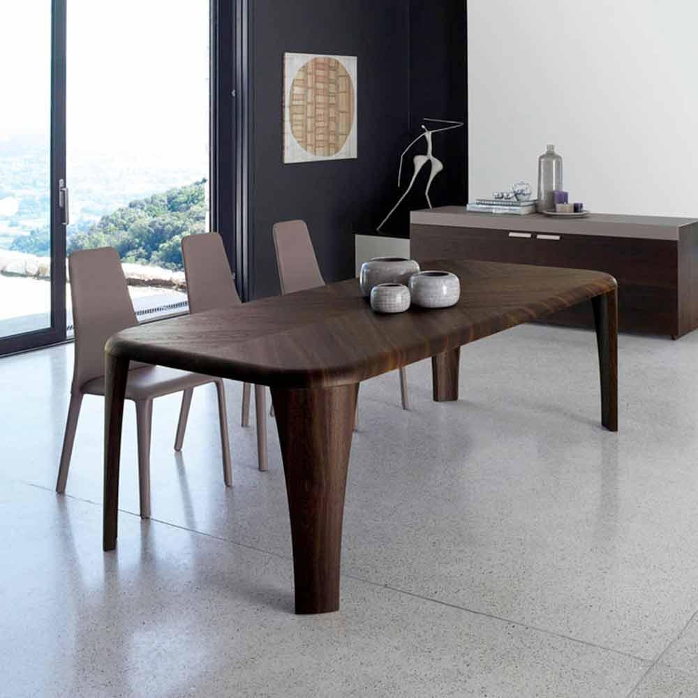 Tavolo moderno in legno massello con gambe color grigio spedizione gratuita. Tavolo Di Design Moderno In Legno Fatto A Mano In Italia Wood