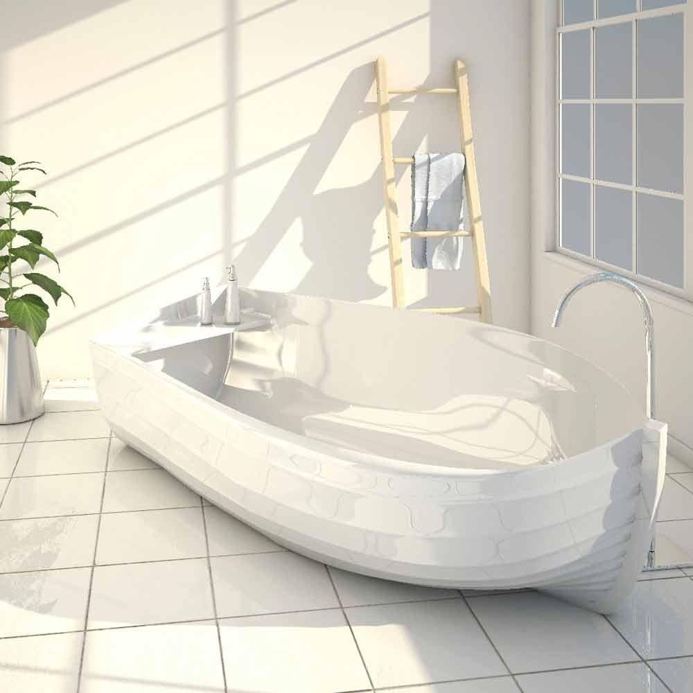 Vasca da bagno di design a forma di barca Ocean made in Italy