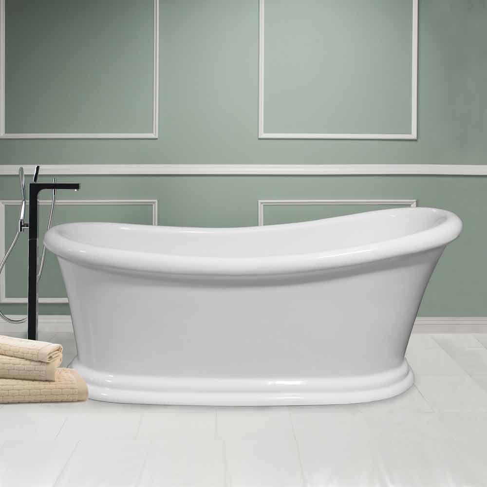 Vasca freestanding moderna bianca in acrilico Winter 1710x730 mm  Vasche Freestanding  Viadurini