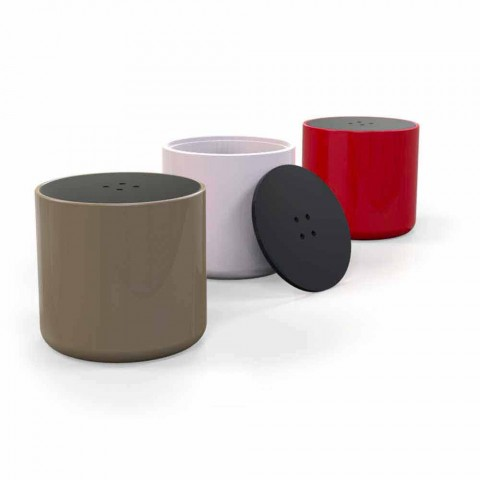 Pouf ContenitoreTavolino Design Button Made in Italy