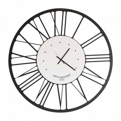 Preciso e silenzioso, adatto per tutti gli ambienti della casa: Orologio A Parete Di Design Moderno In Ferro Made In Italy