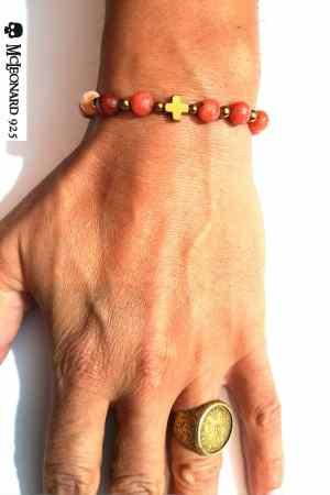 Bracciale Pietra Red Agata Stone
