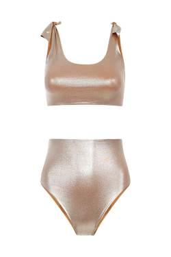 Bikini Knotting Bay High Waisted Platinum