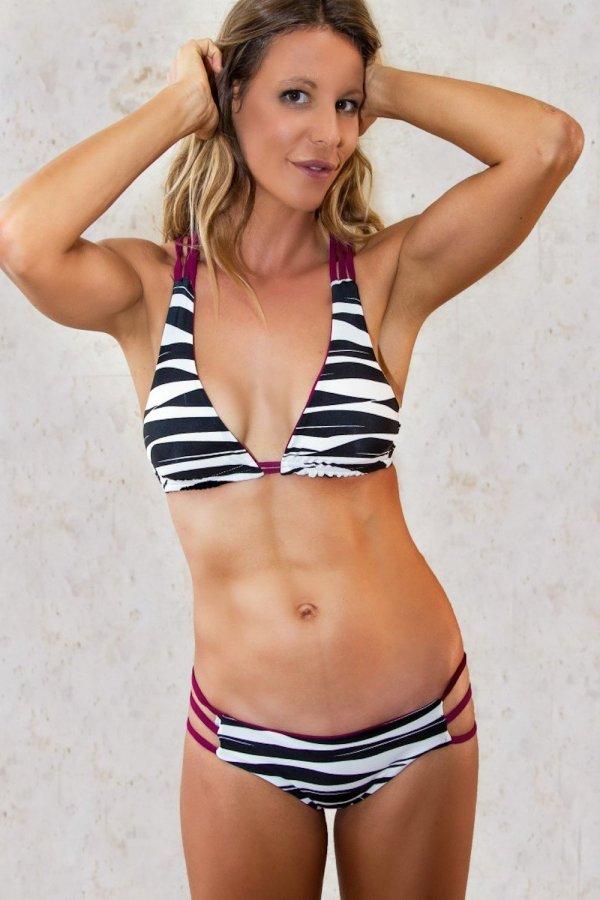 Bottom Bikini Stromboli Purple Zebra