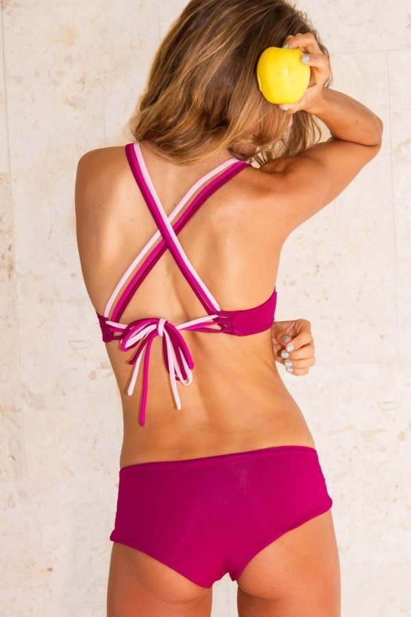 Bottom Bikini Lipari Boy Short Tri Tone Pink