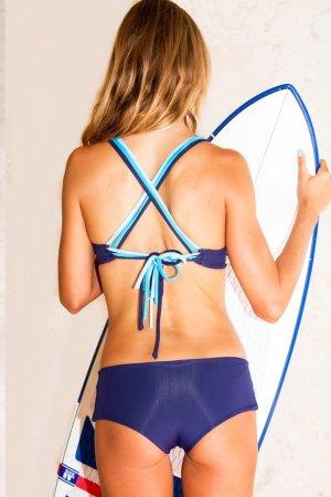 Bottom Bikini Lipari Boy Short Tri Tone Blue