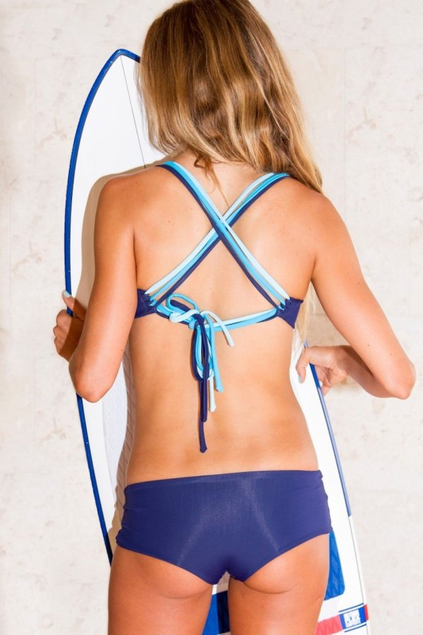 Top Lipari Yoga Tri Tone Blue