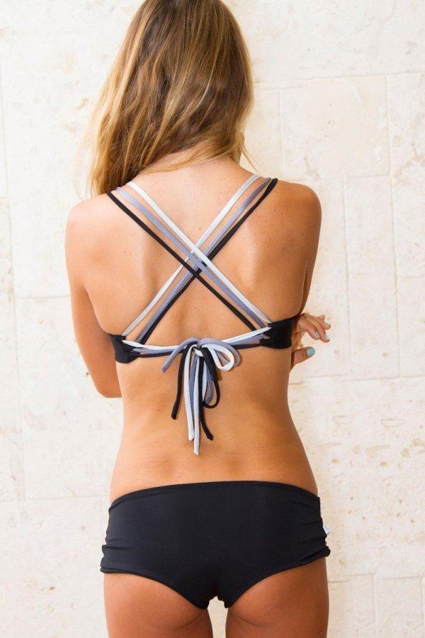 Top Lipari Yoga Top Tri Tone Black