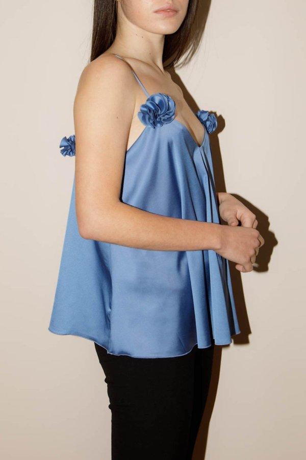 Bloom Top Azzurro