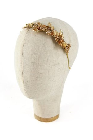 Cerchietto gioiello con filigrane dorate