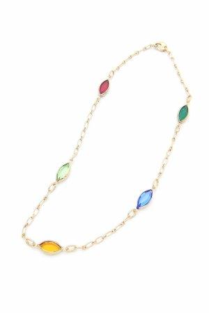 Collana Candy Glass Con Cristalli a Navetta Multicolor