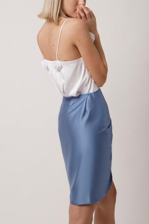 Mama Skirt Azzurro