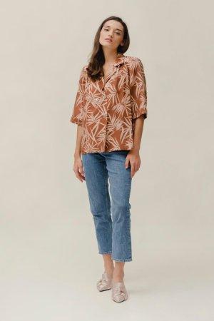 Boxy Shirt doppiopetto Safari Palm