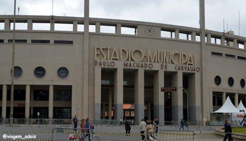 Entrada do Estádio do Pacaembu e do museu