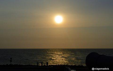 O sol quando chegamos..