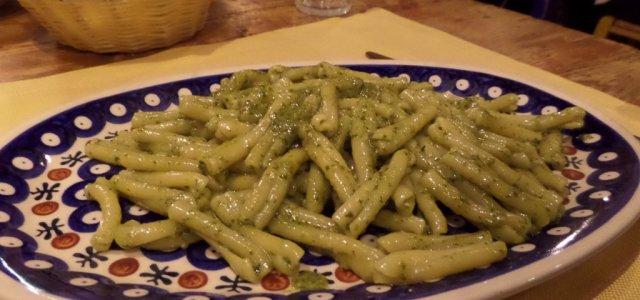Massa ao molho Pesto