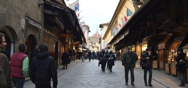 As lojinhas da Ponte Vecchio