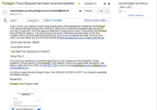 Email de confirmação