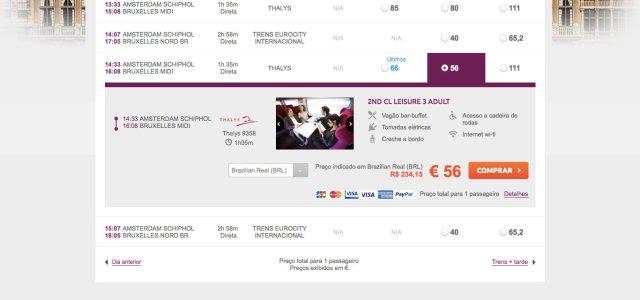 Como comprar passagem de trem no site da RailEurope