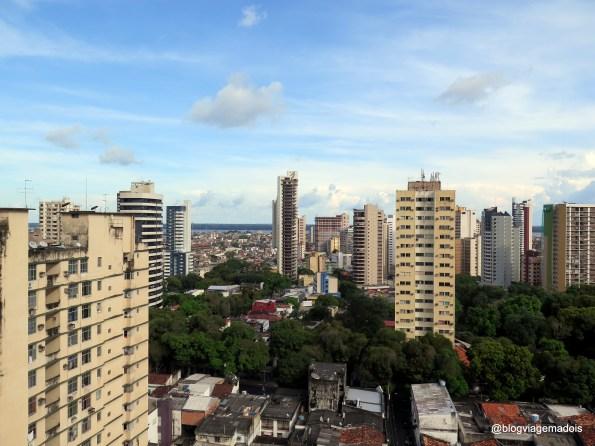 A vista linda da cidade