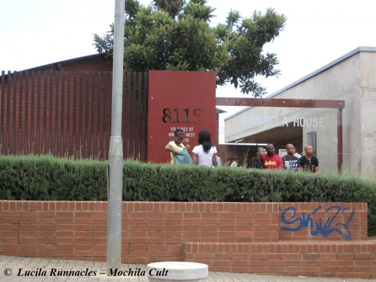Essa é casa do Mandela, que virou museu