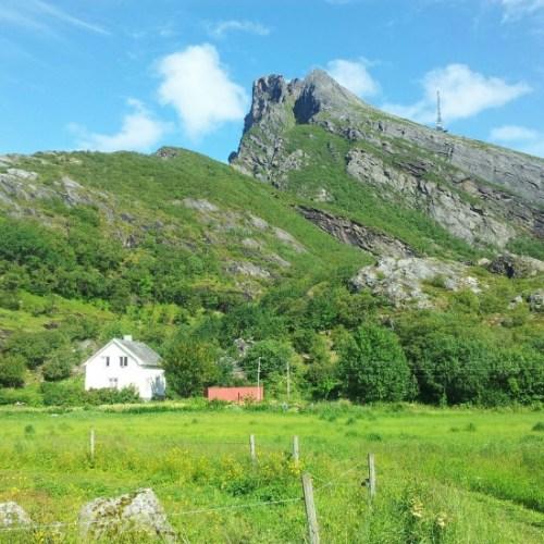 A fazenda onde a Livia ficou no norte da Noruega