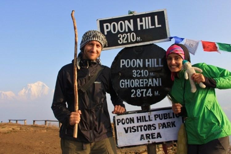 A Carol e o Alexis no Nepal