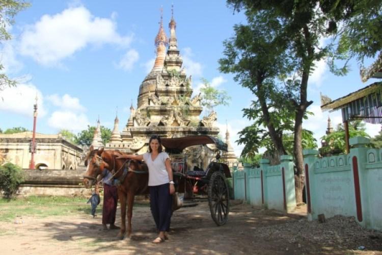 Adriana também poassou por Bagan, no Mianmar