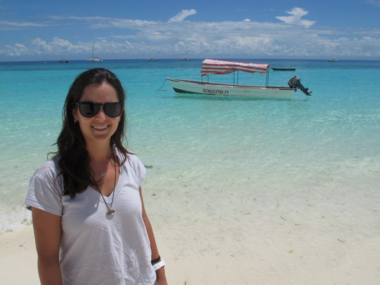 Adriana em Zanzibar, na África