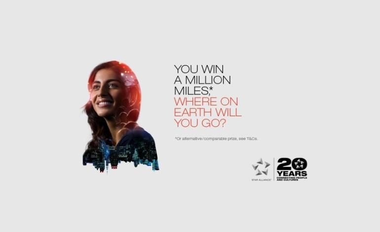 Presentação do Concurso Mileage da Star Alliance que oferece 1 milhão de milhas