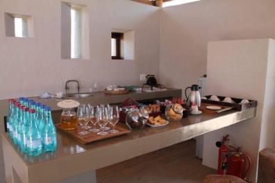 Boas-vindas do Welcome Lounge Sanbona