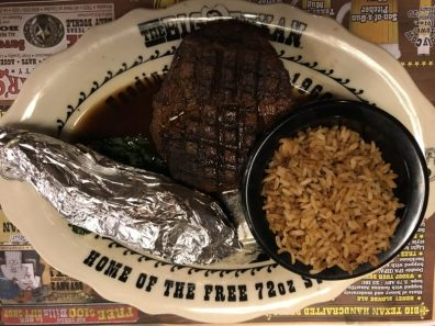 Steak do The Big Texan Ranch, em Amarillo