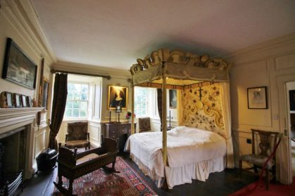 Quarto de Mary Queen of Scots na Traquair House