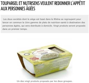 Lyon Entreprise : Toupargel et Nutrisens veulent redonner l'appétit aux personnes âgées