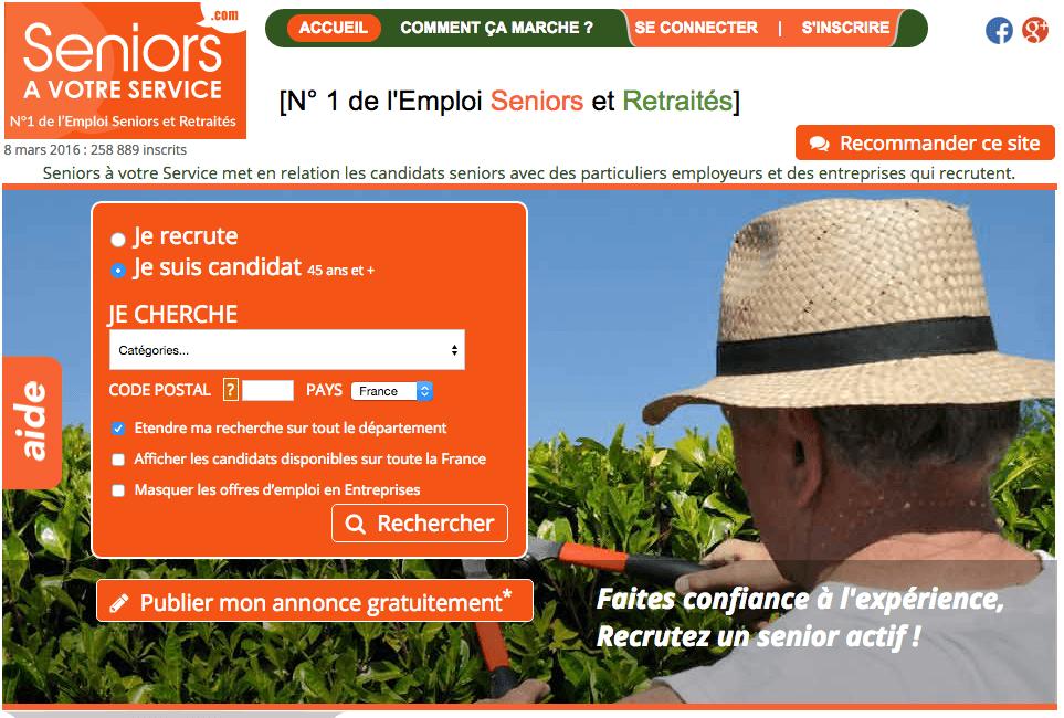 """VIAGER SOLIDAIRE – Augmenter sa retraite avec le site """"Seniors à votre service""""."""