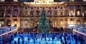 Pattinaggio sul ghiaccio a Londra per Natale