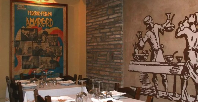 Osteria de Borg a Rimini, cena romagnola