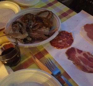 La porchetta di Ariccia, mangiare dar Vignarolo