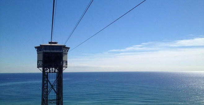 Barcellona, salire a Montjuic, metro, teleferica e trasbordador aeri