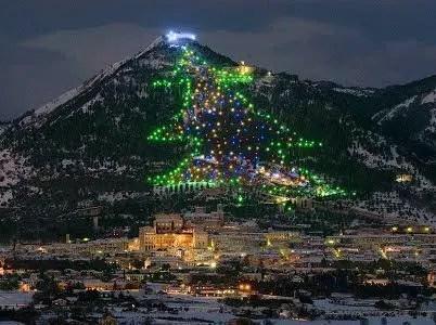 L'Albero di Gubbio da Record per il Natale in Umbria