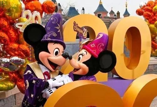 Disneyland Paris a Capodanno, 20 anniversario a Parigi